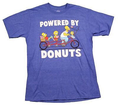 The Simpsons Bart Simpson Powered by Donuts Homer Maggie Lisa 90s T-Shirt