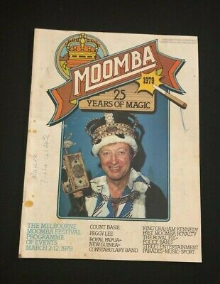 """THE MELBOURNE MOOMBA FESTIVAL 1979 - """"KING"""" GRAHAM KENNEDY - Programme of Events"""