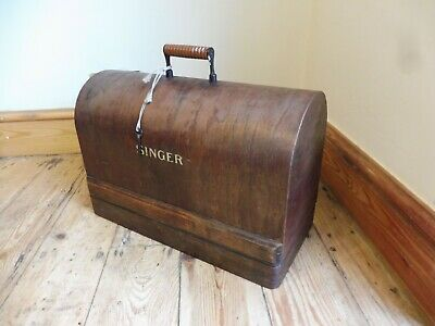 *Antique Bentwood Cased Working Singer Sewing Mc 28 K And Accessories #Y3550512