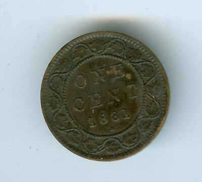 Canada 1881-H Large Cent--Circulated