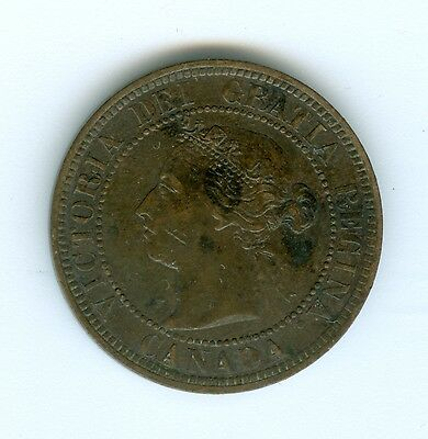Canada 1884  Large Cent--Extra Fine