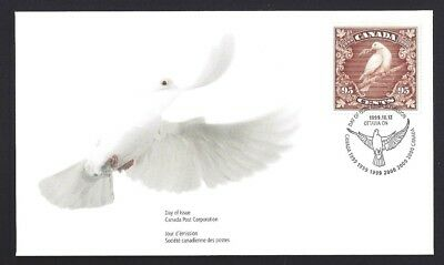Canada   # 1814     Dove of Peace - Millennium Issue       New 1999 Unaddressed
