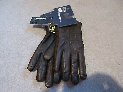 BNWT Shires Brown Leather Thinsulate Winter Riding Gloves - Medium