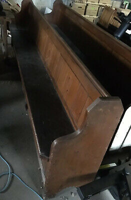 Antique Pine Church Pew Bench 3100 Mm Long Vintage Wood Bench Seat