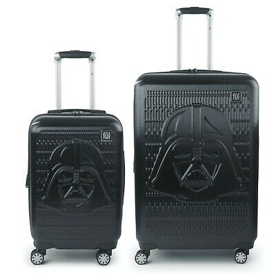 FUL Star Wars Darth Vader Embossed 2 Piece Luggage Set, Black 29 inch, 21 inch
