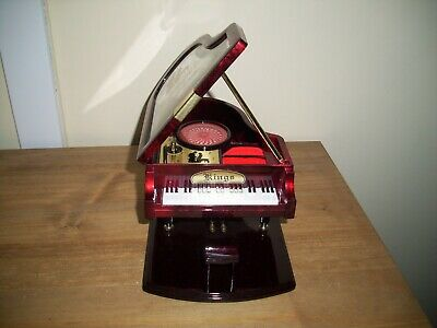 Vintage Kings Piano Music Jewellery Box working great condition