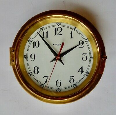 Superb Brass Case Ships Clock. Fully Working 3051
