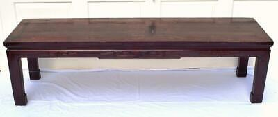 Antique Chinese Low Table Cedar Wood c1900s