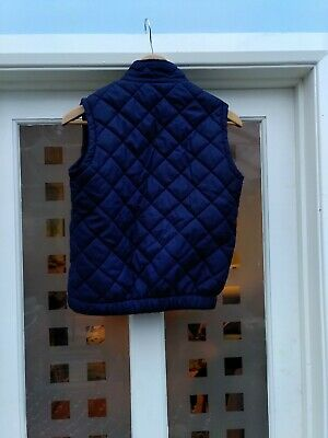 Equestrian Girls Padded Navy Winter Warm Lined Gilet Age 11 12.