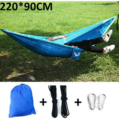 Double Hammock Tent Outdoor Camping Hanging Bed Swing Chair No Mosquito Net US