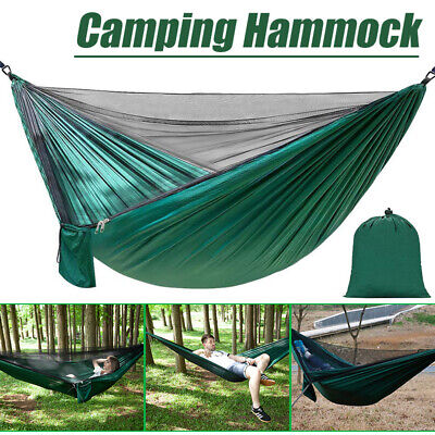 Outdoor Camping 2 Person Mosquito Net Hammock Tent Chair Nylon Hanging Bed Swing