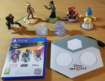PS4 Disney infinity 3.0 Bundle Game Disc figures Playset Crystals Base Plate Set