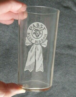 Vintage PABST BLUE RIBBON BEER Drinking Glass