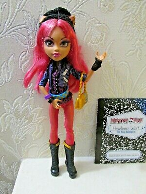 Monster High Howleen Wolf Doll With Bag & Diary