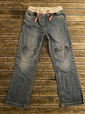 Mini Boden Girls Heart Patch Pocket Jeans Age 6