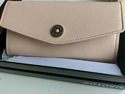 Oroton purse/clutch as new. 'melanie' style in soft pink.