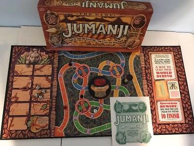 Jumanji Board Game by Milton Bradley Vintage 1995 Complete Ages 8+