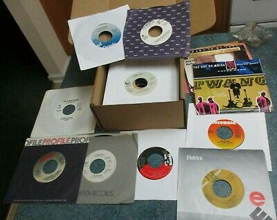 "ROCK / POP 1980s Lot of (50) 45s Records 7"" 45 RPM Vinyl Juke Box"