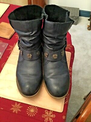 Rieker ankle boots, navy, Uk 6.5 (40), GC