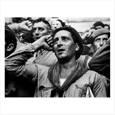 ROBERT CAPA-INTERNATIONAL BRIGADES's Farewell Ceremony. Spain, October 25, 1938.