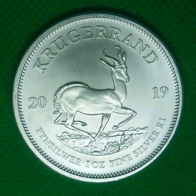 2019 1oz Silver Krugerrand  1 Ounce Bullion Coin with Free capsule