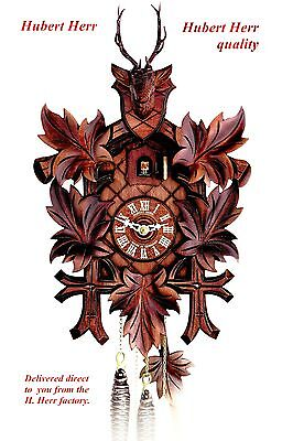 Hubert Herr,   Black Forest  new 1 day mechanical weight driven cuckoo clock.