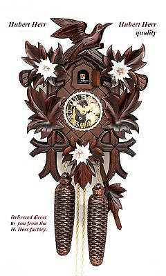 Hubert Herr,  lovely Black Forest 8 day mechanical weight driven cuckoo clock.