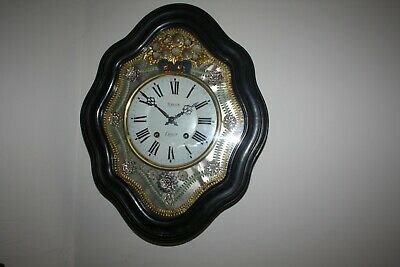 vintage..    French Oeil de Boeuf Wall Clock. repeater... with Pendulum G.W.O