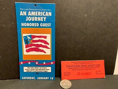 1997 President Bill Clinton Inauguration Inaugural Gala Ticket White House POTUS