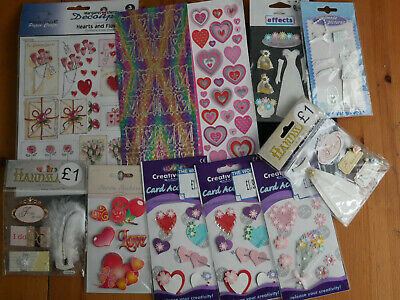 Craftroom clearout-stickers/3d stickers/decoupage bundle -love & weddings (new)