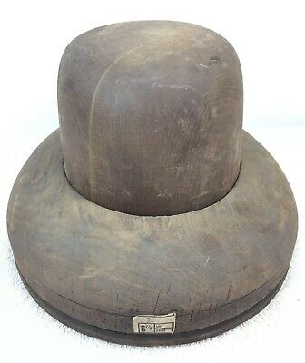 Vintage Antique Wooden Hat Mold Wood Millinery 6 7/8 Henry M.A. Cumings Co