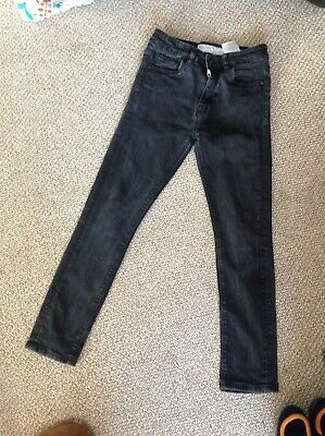 Ripstop Boys Faded Black Skinny Stretch Jeans Age 10-11 Years.