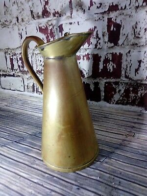 Antique Vintage Old Brass Water Jug Pitcher Hinged Lid Vase Display Arts Crafts