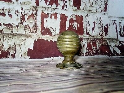 Antique Old Victorian Bee Bees Hive Brass Door Handle Knob Reclaimed Salvage