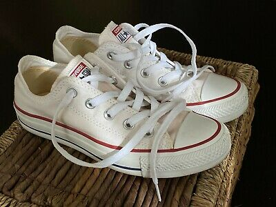 Women's Converse All-Star White Shoes Size 5 - Great Condition!