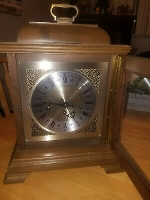 Hamilton Wheatland 5 Chime Mantle 8 Day Wind-Up Walnut Wood Clock #340-020 Key