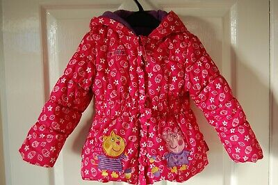 Girls Padded Pink 'Peppa Pig'  Hooded Jacket size 2-3 years