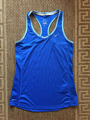 Nike Dri-Fit Women  Girls Ladies Running A-shirt Top Blue Size M
