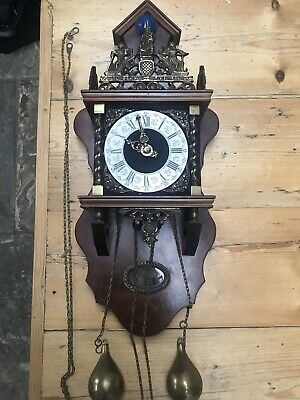 Antique clock  Dutch Mstriking Bell NU ELCK SYN SIN-GM