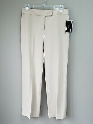 Womens Alfani Beige Dress Pants All Season Stretch Sz 2P New