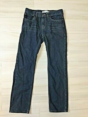 Levis 511 Boys Jeans Size 18 Reg 29 X 29 Dark Wash Slim Red Tab Blue Denim Pants