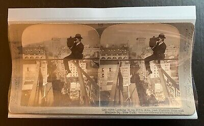 RARE NEW OLD STOCK - 50 Archival Photofile Mylar Stereoview Sleeves with Tab