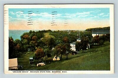 Manistee MI, Michigan State Park, Orchard Beach, Michigan, Vintage Postcard R15