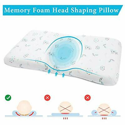 Baby Pillows Head Shaping Pillow, Memory Foam Infant Sleeping Newborn Round Flat