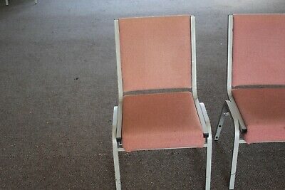 75 used AUDITORIUM THEATER / CHURCH SEATING chairs stacking 4 legs $17.50, Vgood