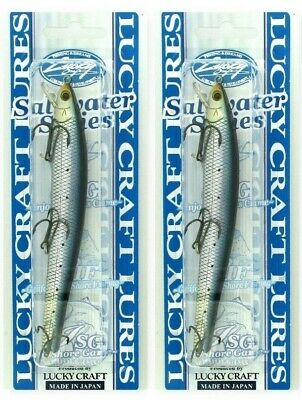 Lucky Craft Saltwater Series Flash Minnow 125FW In GREEN HEAD CHART Pattern NEW