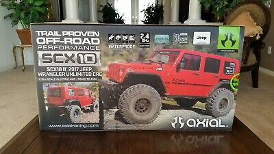 Axial SCX10 II 2017 Jeep Wrangler Unlimited CRC RTR! Brand New! Factory Sealed!!