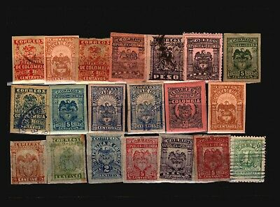 Colombia 20 Mint and Used, some faults - C2275