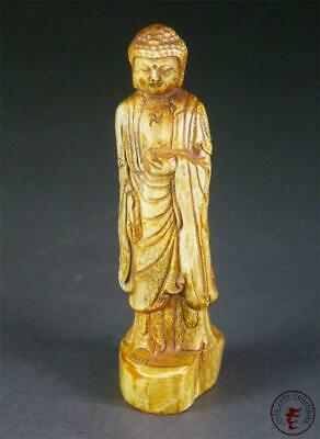 Antique Old Chinese Carved Statue Buddha ~ auspicious & precious material