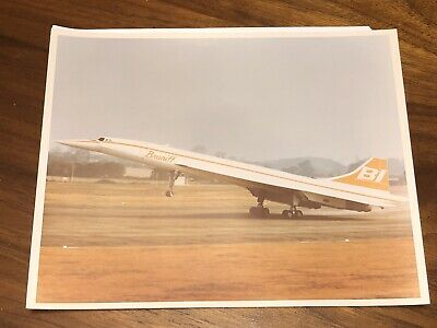 BI Braniff International Concorde 8 X 10 Photo Company Image